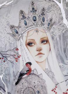 Почтовая открытка Зимушка - зима