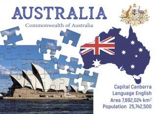 Почтовая открытка Step to Australia
