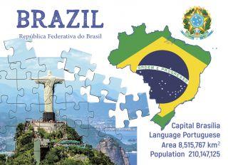 Почтовая открытка Step to Brazil