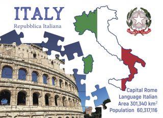 Почтовая открытка Step to Italy