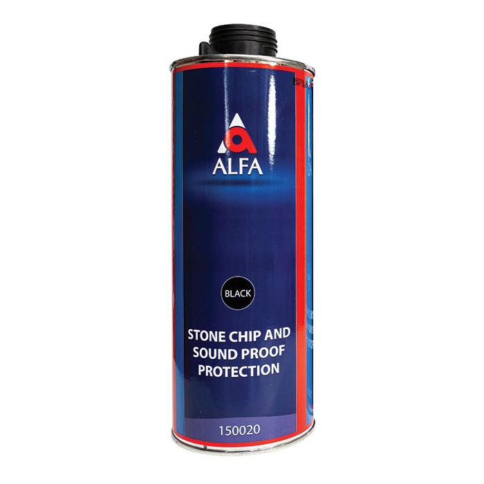 """Alfa Underbody Stone Protection Антигравийное покрытие, название цвета """"Черный"""", объем 1л."""