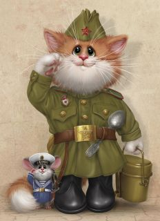 Postcard Eat millet porridge and strengthen our defense