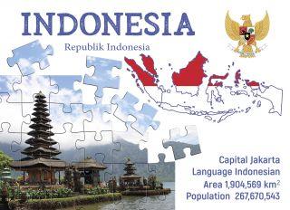 Postcard Step to Indonesia