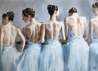 Postcard Blue symphony