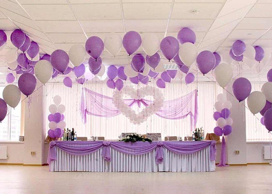 Оформление свадьбы в фиолетовых тонах