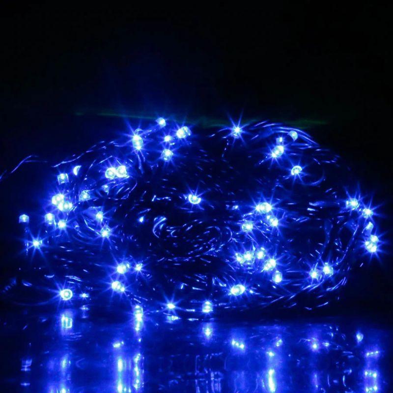 Светодиодная Гирлянда 100 LED 7 м, Цвет Свечения Синий