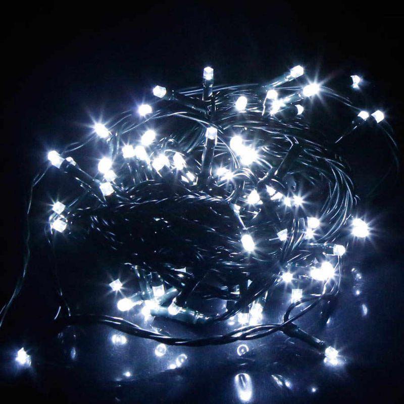 Светодиодная Гирлянда 100 LED 7 м, Цвет Свечения Белый холодный