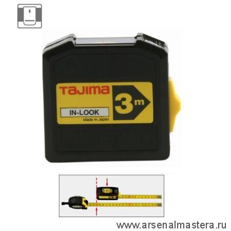 Рулетка TAJIMA IN LOCK  3 м / 13 мм с окошком INL30MY