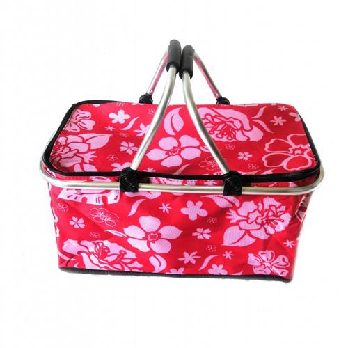 Термокорзина для пикника и покупок, 29 л, Цвет Красный