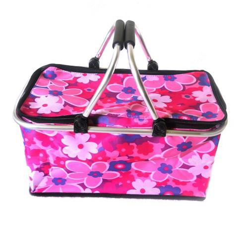 Термокорзина для пикника и покупок, 29 л, Цвет Розовый