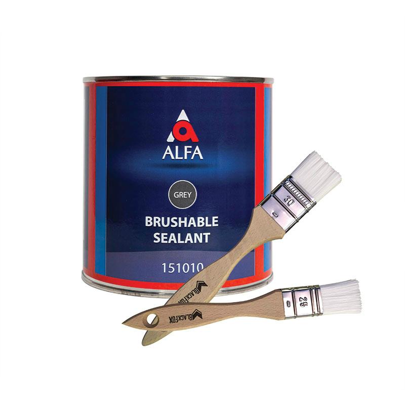 Alfa Герметик шовный под кисть, серый, объем 850гр.