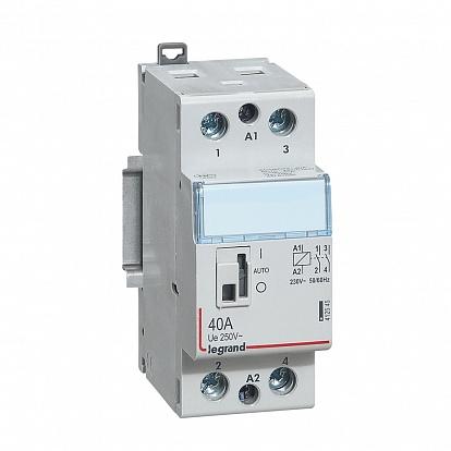 Legrand CX3 Контактор 230V 2НО 40А с руч.уп.