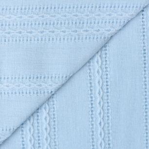 Лоскут ткани Хлопок с выработкой Шитьё на голубом 50х37