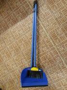 Совок+щетка длинная ручка Ленивка, пластик