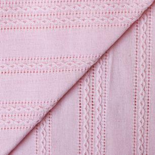 Лоскут ткани Хлопок с выработкой Шитьё на розовом 50х37