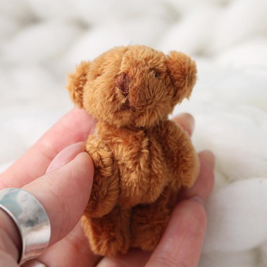 Мини мишка для куклы, коричневый, 6 см
