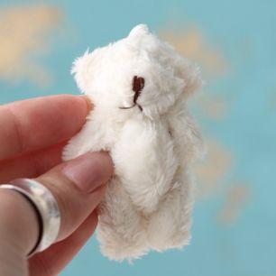 Мини мишка для куклы, молочный, 6 см
