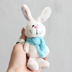 Зайчик голубой шарф  Nici  15 см