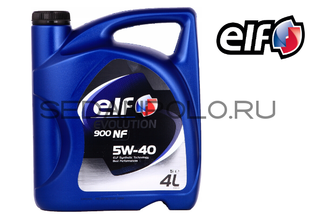 МАСЛО МОТОРНОЕ ELF EVOLUTION 900 NF 5W-40 4L ACEA A3/B4 4L