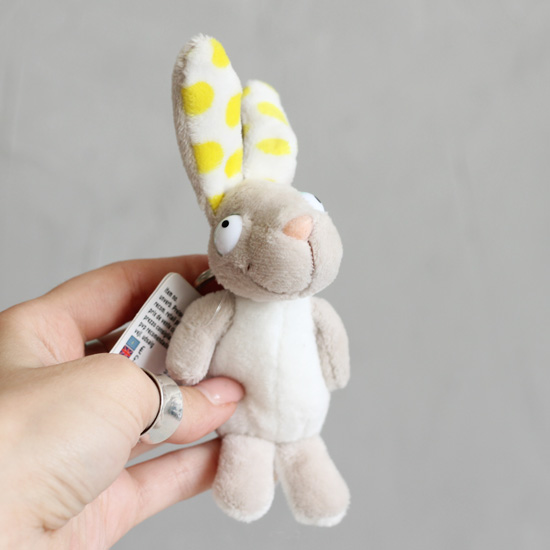 Зайчик желтые ушки/пузико  Nici  15 см