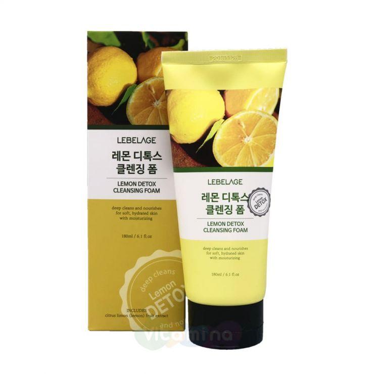 Lebelage Очищающая детокс-пенка с экстрактом лимона Lemon Detox Cleansing Foam, 180 мл