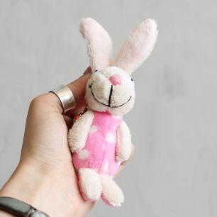 Зайчик розовое пузико  Nici  15 см