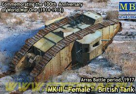 Британский танк МК II «Самка», период Битвы под Аррасом, 1917