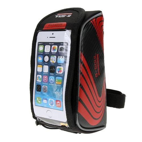 Велосипедная сумка на раму под смартфон B-Soul