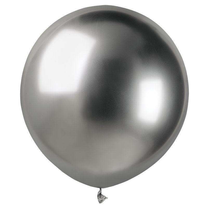 Шар с гелием Хром Shiny Silver 45 см