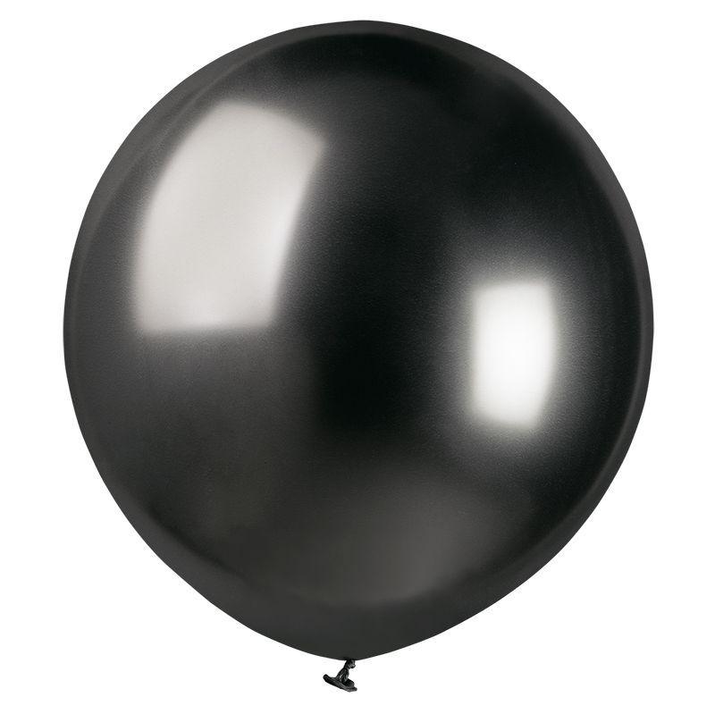 Шар с гелием Хром Shiny Space Grey 45 см