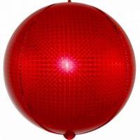 Шар с гелием 51см Сфера 3D, Стерео-голография Красный