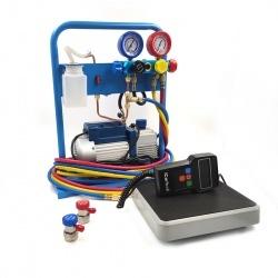 AC-3014 Комплект для заправки кондиционеров,  compact с функцией заправки масла