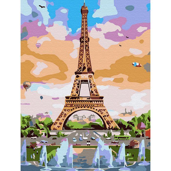 Картина по номерам Эйфелева башня 15*20см KH0790