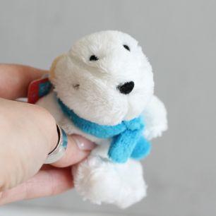 Мишка с голубым шарфом Nici  10 см