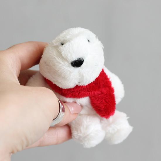 Мишка с красным шарфом Nici  10 см