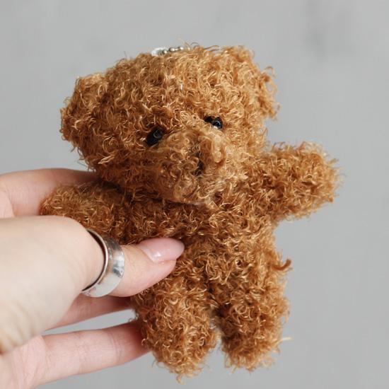 Мишка пушистый коричневый 10 см