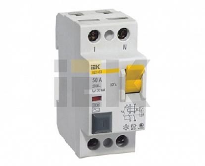 IEK Выключатель дифференциальный ВД1-63 (УЗО) 2Р 40А 300мА
