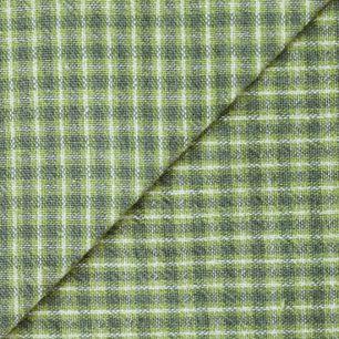 Хлопок фактурный клетка зеленая 50х37