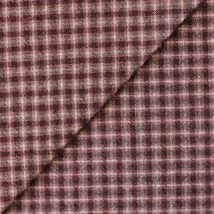 Хлопок фактурный клетка тёмно-коричневая 50х37