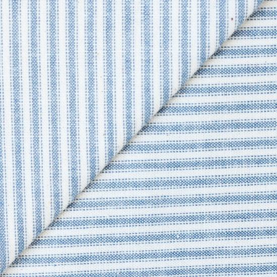 Хлопок фактурный полоска голубая 50х37