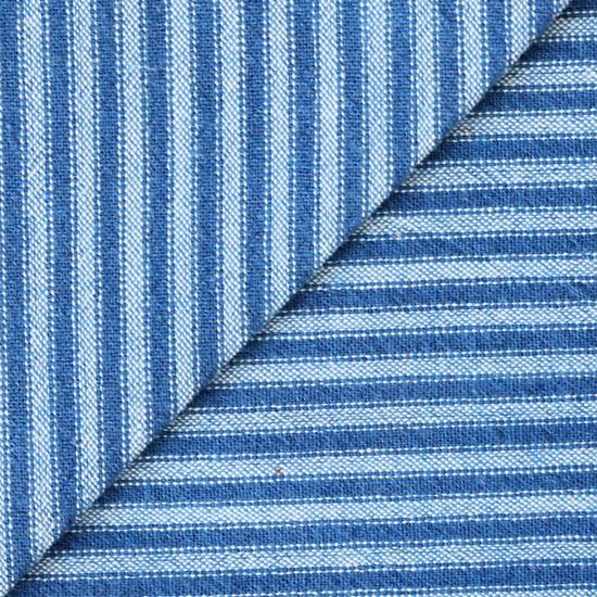Хлопок фактурный полоска синяя 50х37