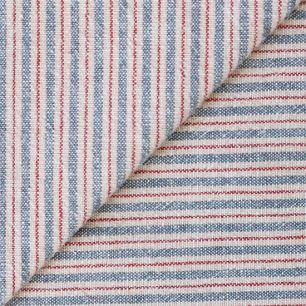 Хлопок фактурный полоска синяя на бежевом 50х37