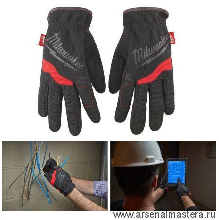 Перчатки рабочие мягкие 10 / XL 1 шт размер XL Milwaukee Free Flex Gloves-XL/10 -1pc 48229713
