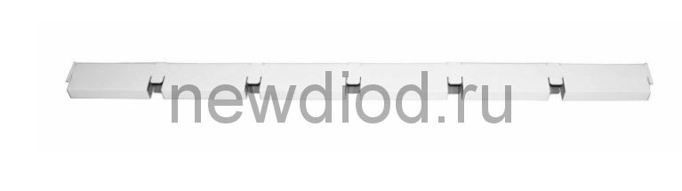 "Рейка Grigliato GL15 ""папа"" 100x100 h37 b15 A903оц01 белый оцинк. L=0.60 (мет.)"