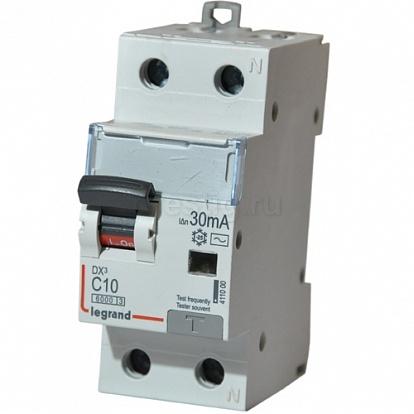Legrand DX3 Дифференциальный автоматический выключатель 1P+N 10А (С) 30MA-AC