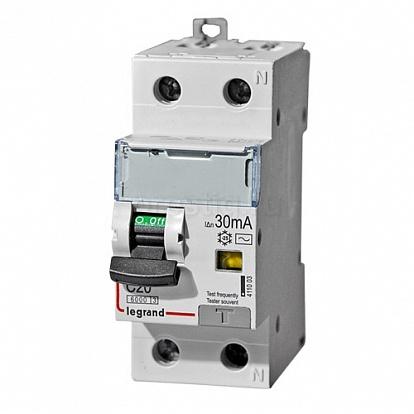 Legrand DX3 Дифференциальный автоматический выключатель 1P+N 20А (С) 30MA-AC