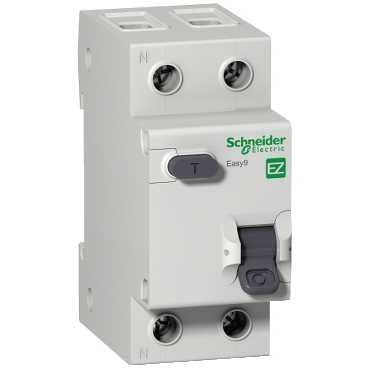 SE EASY 9 Дифференциальный автоматический выключатель 1П+Н 10А 30мА C AC