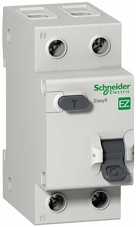 SE EASY 9 Дифференциальный автоматический выключатель 1П+Н 16А 30мА C AC