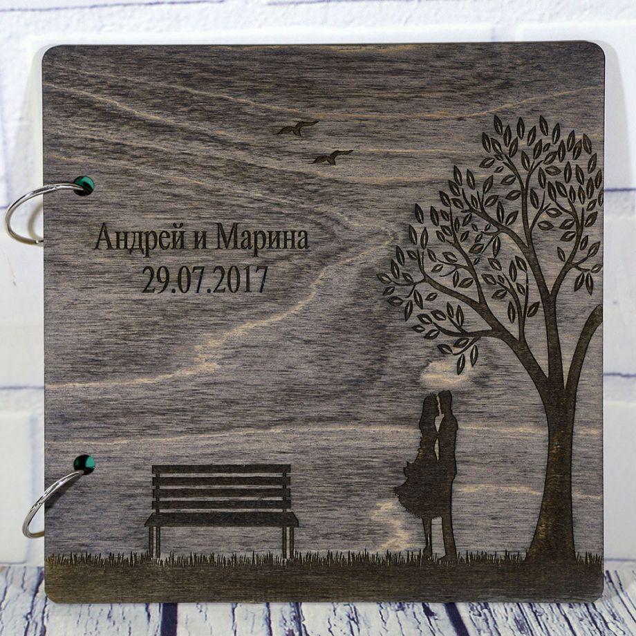 Книга пожеланий на свадьбу (свадебная книга) пара под деревом