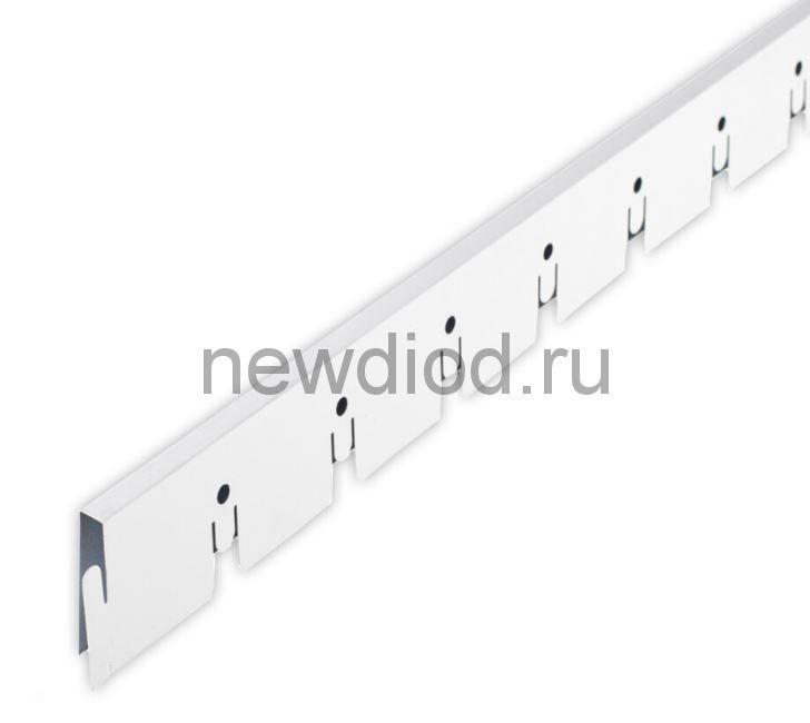 Рейка Grigliato-E нап. 50x50 h40 b10 A903RUS01 белый матовый L=2.40 (алюм.)